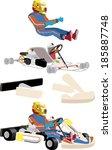 go cart carting racing race...   Shutterstock .eps vector #185887748