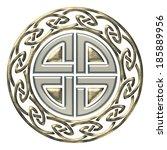 thors shield knot   celtic... | Shutterstock . vector #185889956