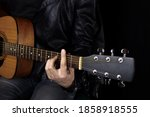 Musician With A Guitar On A...