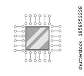 the cartoon of a cpu on circuit ...