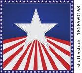 american flag star back ground | Shutterstock .eps vector #1858960168