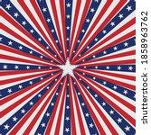 american flag sun brust... | Shutterstock .eps vector #1858963762