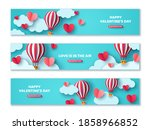 set of horizontal banners with... | Shutterstock .eps vector #1858966852