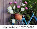 Large Bouquet Of Peonies In A...