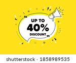 up to 40  discount. megaphone... | Shutterstock .eps vector #1858989535