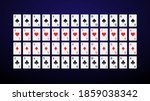 deck of cards in a minimalistic ... | Shutterstock .eps vector #1859038342