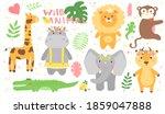 vector safari set of african... | Shutterstock .eps vector #1859047888