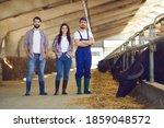 Proud Farmer And Happy Farm...