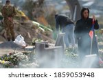 Small photo of Yerevan, Armenia - 22 Novermber 2020: The war in Artsakh (Nagorno Karabakh) is over. the burials of the fallen soldiers in Yerablur Military Memorial Cemetery in Yerevan Armenia.