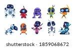 modern robots. cartoon friendly ... | Shutterstock .eps vector #1859068672