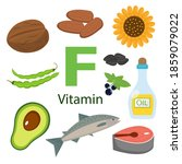 vitamin f and vector set of... | Shutterstock .eps vector #1859079022