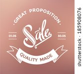 sale quote typographical... | Shutterstock .eps vector #185908076