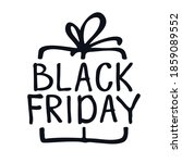 black friday sale gift box... | Shutterstock .eps vector #1859089552