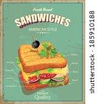 sandwiches. vector illustration.... | Shutterstock .eps vector #185910188