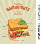 sandwiches. vector illustration....   Shutterstock .eps vector #185910818