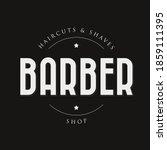 barber sign vintage stamp black | Shutterstock .eps vector #1859111395