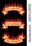 first responder fire flame... | Shutterstock .eps vector #1859115055