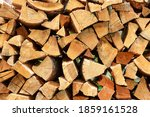 Stacking Fire Wood. Firewood...