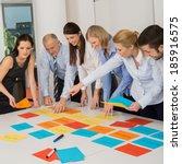 business team brainstorming... | Shutterstock . vector #185916575