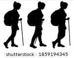 tourist with a large backpack... | Shutterstock .eps vector #1859194345