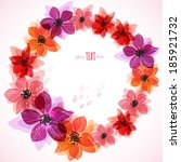 stylized bright flowers.... | Shutterstock .eps vector #185921732