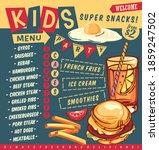 kids menu design template for... | Shutterstock .eps vector #1859247502
