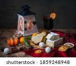 Still Life With Cheese Brie And ...