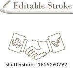 ecological handshakes icon....