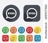 byod sign icon. bring your own... | Shutterstock . vector #185927582