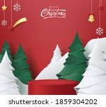 merry christmas banner with... | Shutterstock .eps vector #1859304202