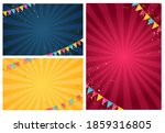 banner with garland of flags...   Shutterstock .eps vector #1859316805