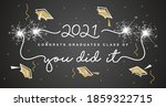 class of 2021 you did it white... | Shutterstock .eps vector #1859322715