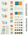 set of flat infographic... | Shutterstock .eps vector #185933252