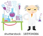 scientist conducting a chemical ... | Shutterstock .eps vector #185934086