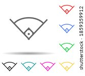 angle in baseball multi color...