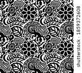 black tribal tattoo seamless...   Shutterstock .eps vector #1859372608