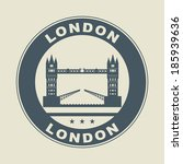 stamp or label with word london ... | Shutterstock .eps vector #185939636