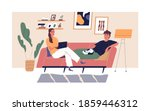 young happy couple relaxing on...   Shutterstock .eps vector #1859446312