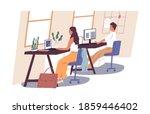 people working in office. man...   Shutterstock .eps vector #1859446402