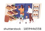 people shopping and choosing... | Shutterstock .eps vector #1859446558