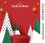 merry christmas banner with... | Shutterstock .eps vector #1859483152
