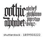 gothic  english alphabet....   Shutterstock .eps vector #1859503222