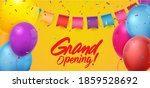 grand opening ceremony with red ... | Shutterstock . vector #1859528692