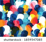 people profile heads. seamless... | Shutterstock .eps vector #1859547085