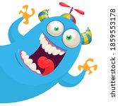 funny cartoon monster.... | Shutterstock .eps vector #1859553178
