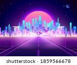 highway to cyberpunk futuristic ... | Shutterstock .eps vector #1859566678