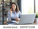 Freelance Business Women Using...