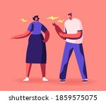 angry couple characters arguing ... | Shutterstock .eps vector #1859575075