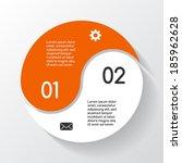 modern vector info graphic for... | Shutterstock .eps vector #185962628