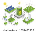 alternative electric energy....   Shutterstock .eps vector #1859629195